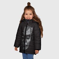 Куртка зимняя для девочки G-Man Face цвета 3D-черный — фото 2
