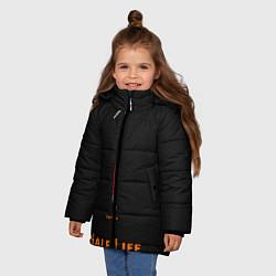 Куртка зимняя для девочки Half-Life: Valve's цвета 3D-черный — фото 2