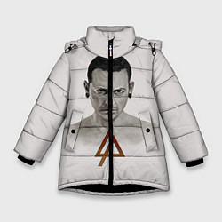 Куртка зимняя для девочки Chester Bennington цвета 3D-черный — фото 1