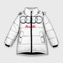 Куртка зимняя для девочки Ауди цвета 3D-черный — фото 1