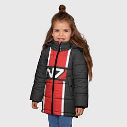 Куртка зимняя для девочки Mass Effect: N7 цвета 3D-черный — фото 2