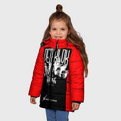 Куртка зимняя для девочки Dethklok: Knitting factory цвета 3D-черный — фото 2