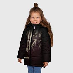 Куртка зимняя для девочки Taboo London цвета 3D-черный — фото 2
