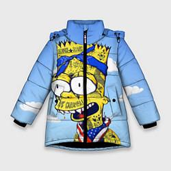 Куртка зимняя для девочки Aye Caramba! цвета 3D-черный — фото 1