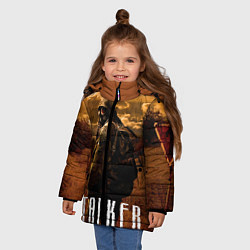 Куртка зимняя для девочки STALKER: Radiation цвета 3D-черный — фото 2