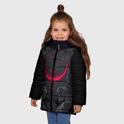 Куртка зимняя для девочки Quake champions цвета 3D-черный — фото 2