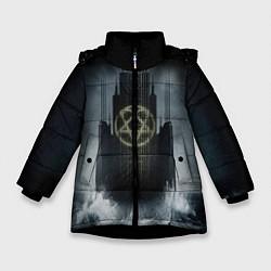Куртка зимняя для девочки HIM: Devil Castle цвета 3D-черный — фото 1