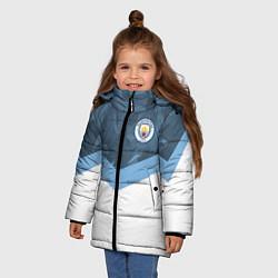 Детская зимняя куртка для девочки с принтом Manchester City FC: Sport, цвет: 3D-черный, артикул: 10137034906065 — фото 2
