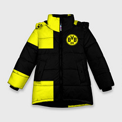 Куртка зимняя для девочки BVB FC: Black style цвета 3D-черный — фото 1