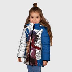 Куртка зимняя для девочки Атака Титанов цвета 3D-черный — фото 2