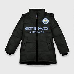 Куртка зимняя для девочки Man City FC: Black 17/18 цвета 3D-черный — фото 1