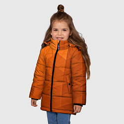 Куртка зимняя для девочки Orange abstraction цвета 3D-черный — фото 2
