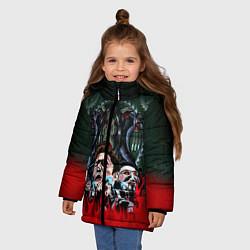 Куртка зимняя для девочки Jigsaw: The Fear цвета 3D-черный — фото 2