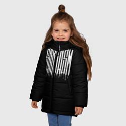 Детская зимняя куртка для девочки с принтом Sarcasm, цвет: 3D-черный, артикул: 10138774506065 — фото 2