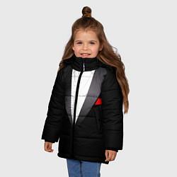 Куртка зимняя для девочки Смокинг мистера цвета 3D-черный — фото 2