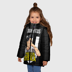 Куртка зимняя для девочки FC Juventus: Paulo Dybala цвета 3D-черный — фото 2