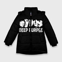 Куртка зимняя для девочки Deep Purple цвета 3D-черный — фото 1