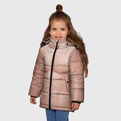 Куртка зимняя для девочки Тело Адама цвета 3D-черный — фото 2