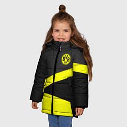Куртка зимняя для девочки FC Borussia: Sport Geometry цвета 3D-черный — фото 2