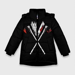 Куртка зимняя для девочки Викинги цвета 3D-черный — фото 1