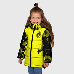 Куртка зимняя для девочки FC Borussia Dortmund: Yellow Original цвета 3D-черный — фото 2