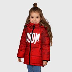 Куртка зимняя для девочки DOOM: Marsian Blood цвета 3D-черный — фото 2