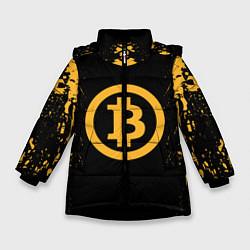 Куртка зимняя для девочки Bitcoin Master цвета 3D-черный — фото 1