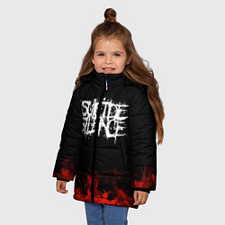 Куртка зимняя для девочки Suicide Silence: Red Flame цвета 3D-черный — фото 2