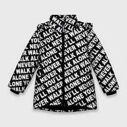 Куртка зимняя для девочки YNWA цвета 3D-черный — фото 1