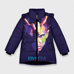 Куртка зимняя для девочки Eminem V&C цвета 3D-черный — фото 1