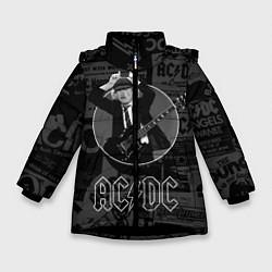 Куртка зимняя для девочки AC/DC: Black Devil цвета 3D-черный — фото 1
