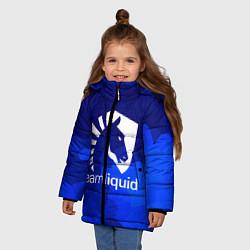 Куртка зимняя для девочки Team Liquid: Polygons цвета 3D-черный — фото 2