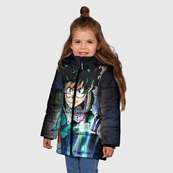 Детская зимняя куртка для девочки с принтом My Hero Academia, цвет: 3D-черный, артикул: 10144528706065 — фото 2