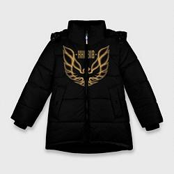 Куртка зимняя для девочки Khabib: Gold Eagle цвета 3D-черный — фото 1