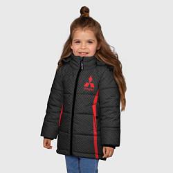 Куртка зимняя для девочки MITSUBISHI SPORT цвета 3D-черный — фото 2