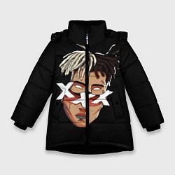 Куртка зимняя для девочки XXXTentacion Head цвета 3D-черный — фото 1