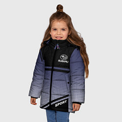 Куртка зимняя для девочки SUBARU SPORT цвета 3D-черный — фото 2