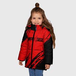 Куртка зимняя для девочки R6S: Red Style цвета 3D-черный — фото 2