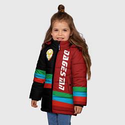 Куртка зимняя для девочки Dagestan цвета 3D-черный — фото 2