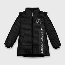 Куртка зимняя для девочки Mercedes AMG: Sport Line цвета 3D-черный — фото 1