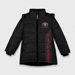 Куртка зимняя для девочки Toyota: Sport Line цвета 3D-черный — фото 1