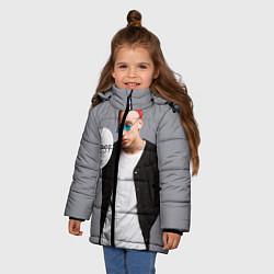 Детская зимняя куртка для девочки с принтом T-Fest: Grey Style, цвет: 3D-черный, артикул: 10147368706065 — фото 2