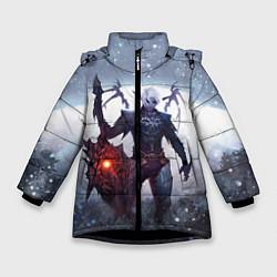 Детская зимняя куртка для девочки с принтом Dark Knight, цвет: 3D-черный, артикул: 10147779106065 — фото 1