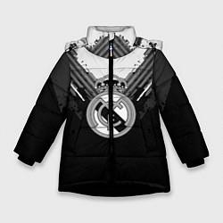 Куртка зимняя для девочки FC Real Madrid: Black Style цвета 3D-черный — фото 1