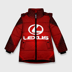 Куртка зимняя для девочки Lexus: Red Light цвета 3D-черный — фото 1