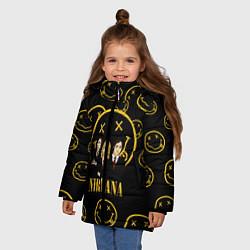 Куртка зимняя для девочки Nirvana: Smiles Wave цвета 3D-черный — фото 2