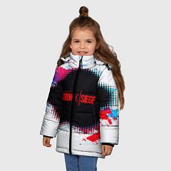 Куртка зимняя для девочки R6S: Colour Style цвета 3D-черный — фото 2