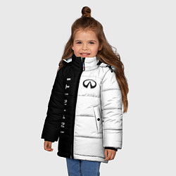 Куртка зимняя для девочки Infiniti: Black & White цвета 3D-черный — фото 2