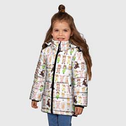Куртка зимняя для девочки MONSTA X 10 цвета 3D-черный — фото 2