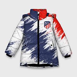 Куртка зимняя для девочки FC Atletico Madrid цвета 3D-черный — фото 1